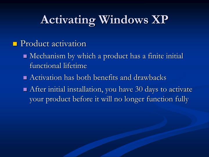 Activating Windows XP