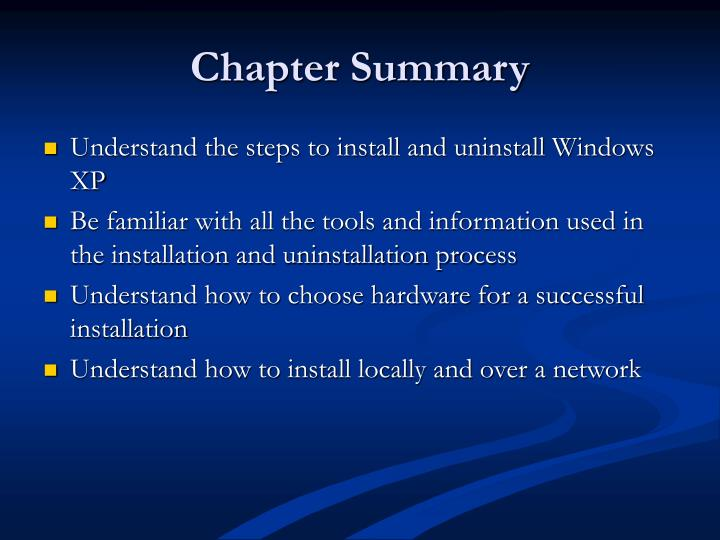 Chapter Summary