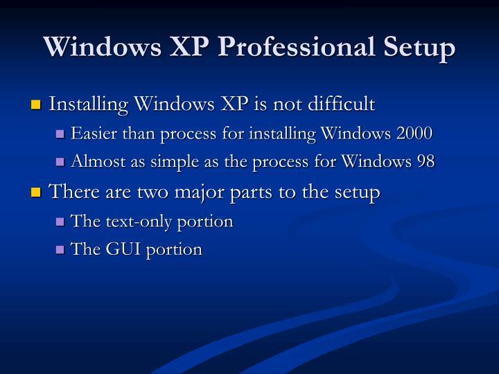 Windows XP Professional Setup