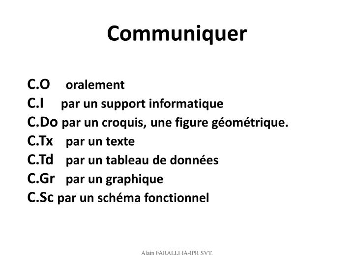 Communiquer