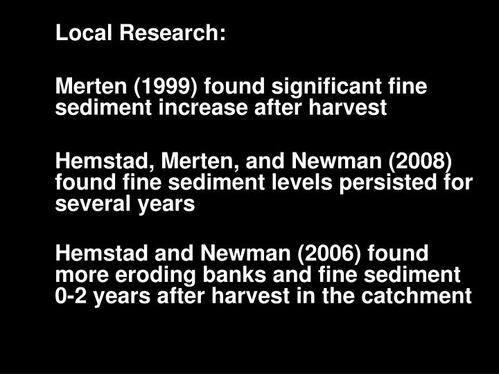 Local Research: