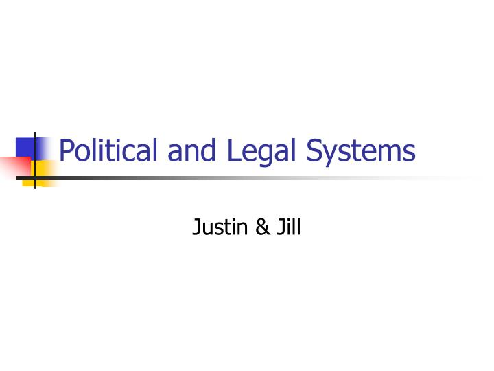political and legal systems n.