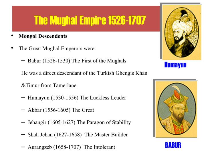 The Mughal Empire 1526-1707