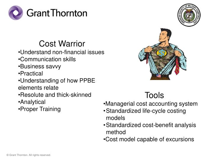 Cost Warrior
