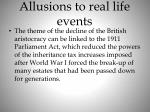 allusions to real life events