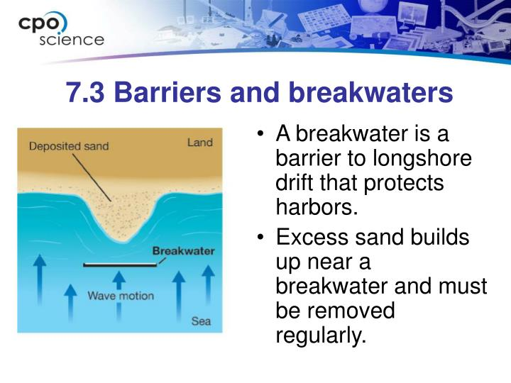 7.3 Barriers and breakwaters