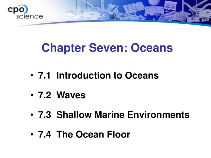 Chapter seven oceans