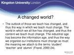a changed world1
