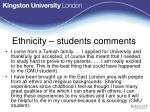 ethnicity students comments
