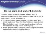 hesa stats and student diversity