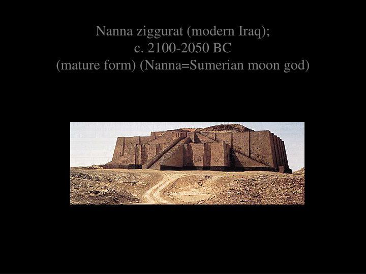Nanna ziggurat (modern Iraq);