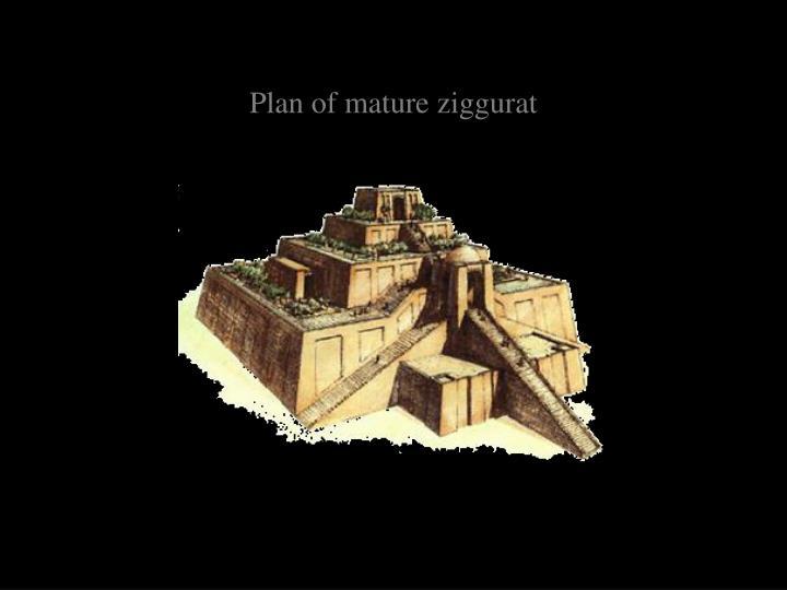 Plan of mature ziggurat