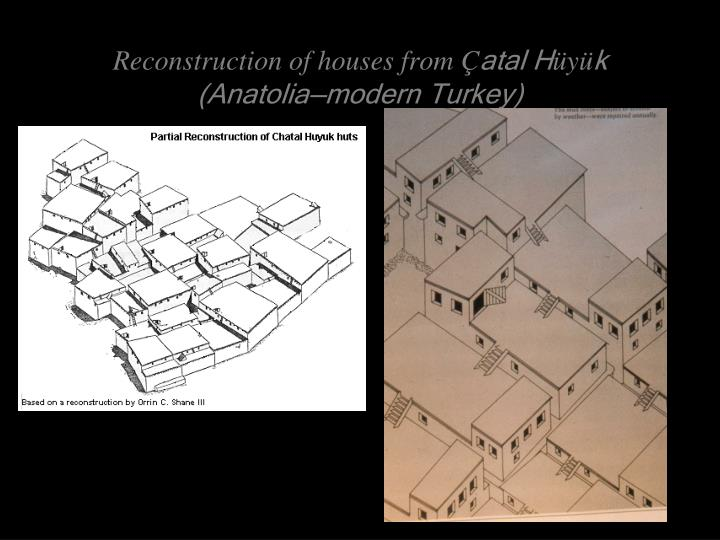 Reconstruction of houses from Ç