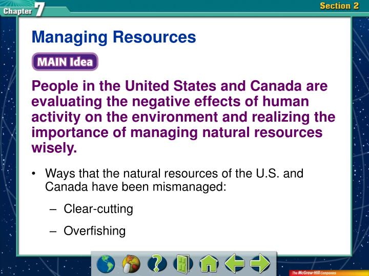 Managing Resources