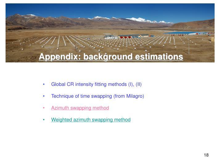 Appendix: background estimations