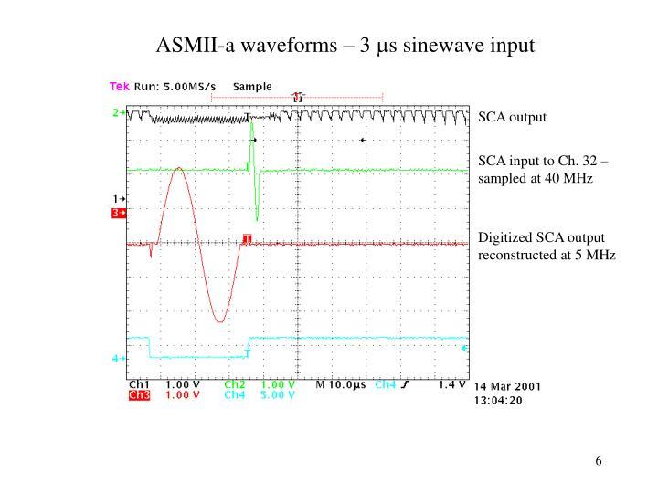 ASMII-a waveforms – 3