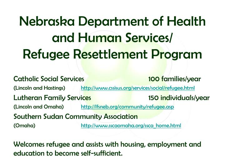 Nebraska Department of Health and Human Services/