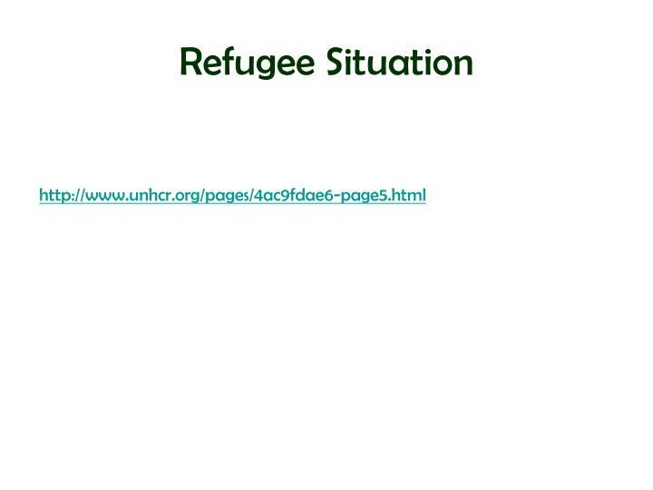 Refugee Situation