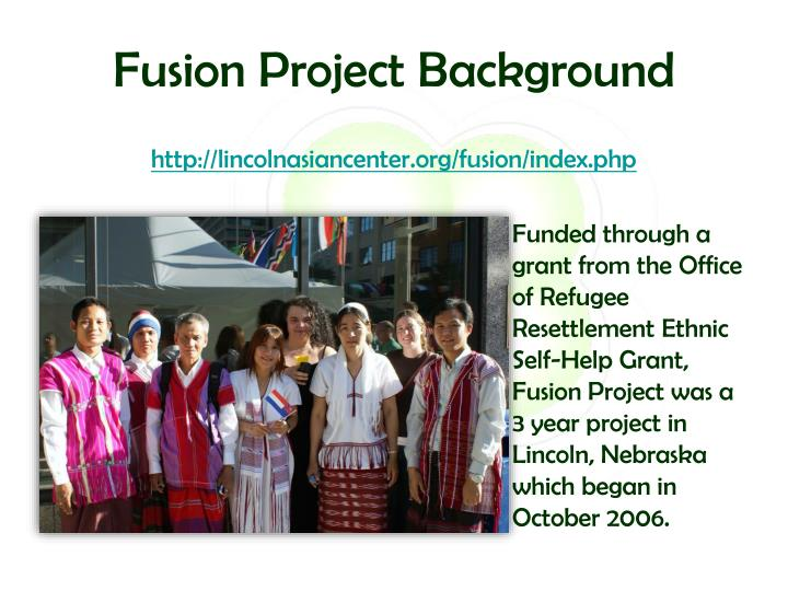 Fusion Project Background