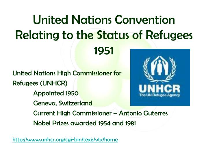 United Nations Convention Relating to the Status of Refugees 1951