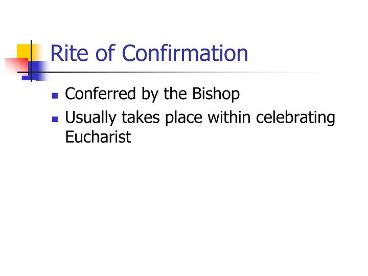 Rite of Confirmation