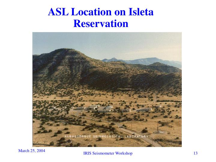 ASL Location on Isleta Reservation