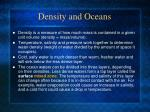 density and oceans