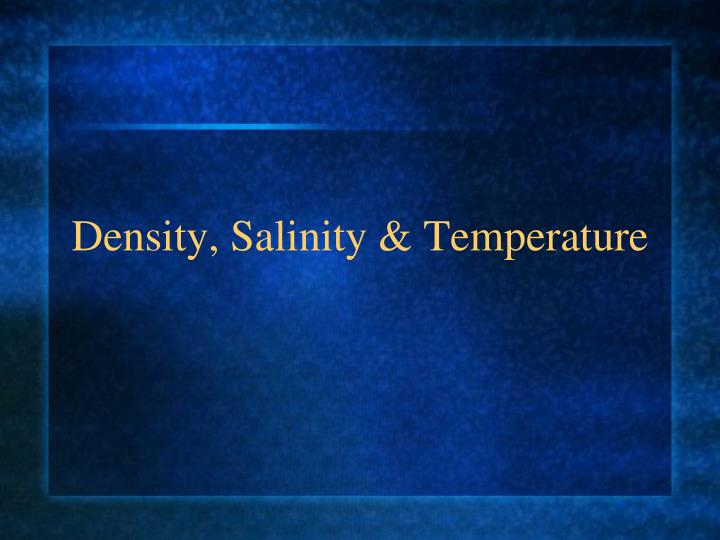 density salinity temperature n.