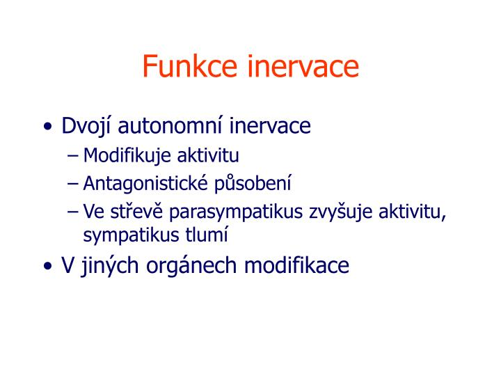 Funkce inervace