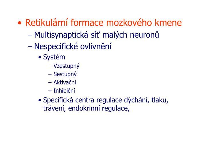 Retikulární formace mozkového kmene