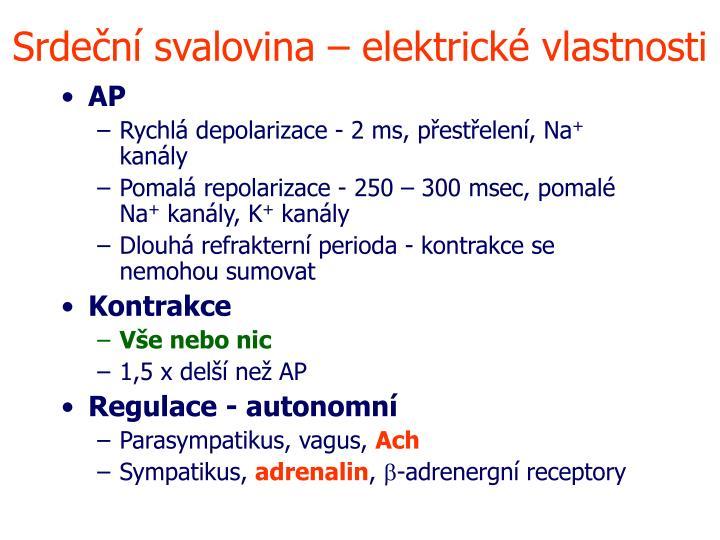 Srdeční svalovina – elektrické vlastnosti