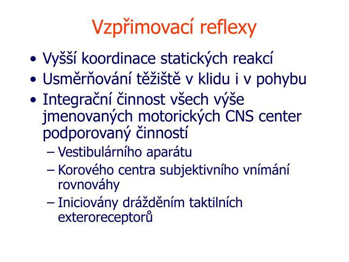 Vzpřimovací reflexy