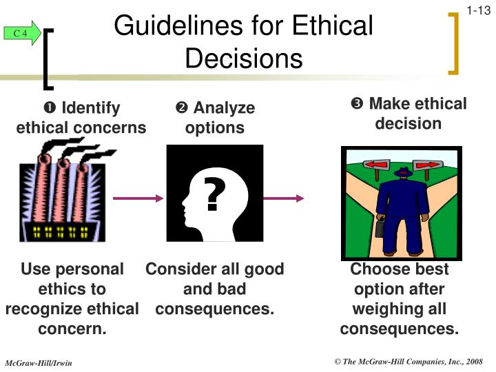 Guidelines for Ethical Decisions
