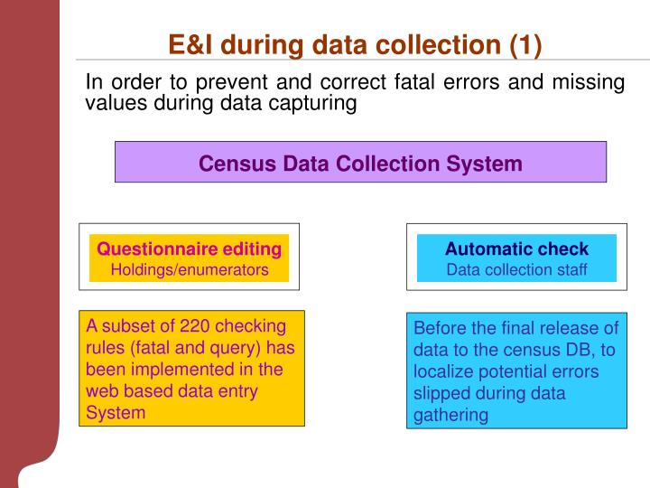 E&I during data collection (1)