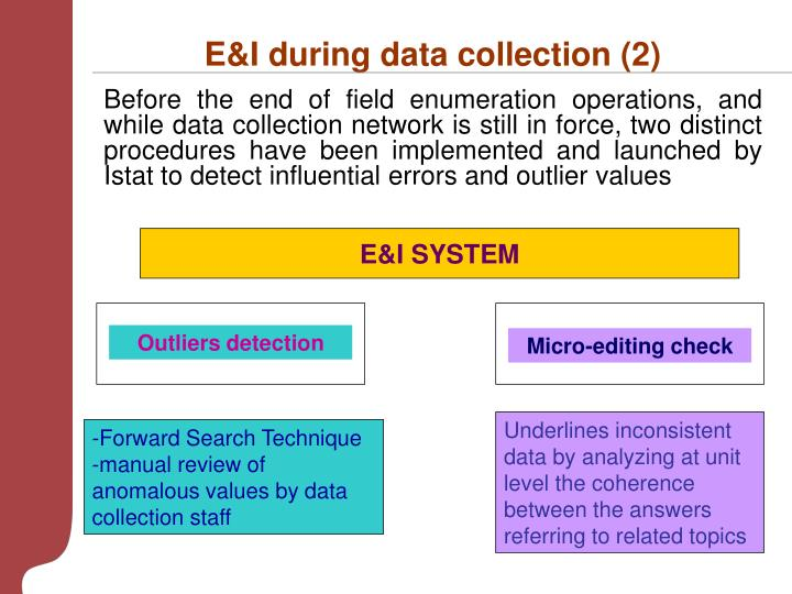 E&I during data collection (2)