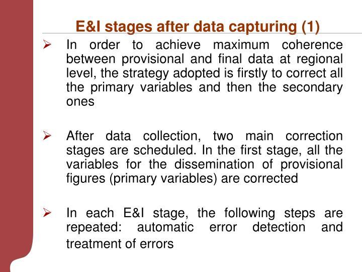 E&I stages after data capturing (1)