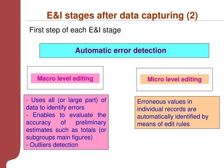 E&I stages after data capturing (2)