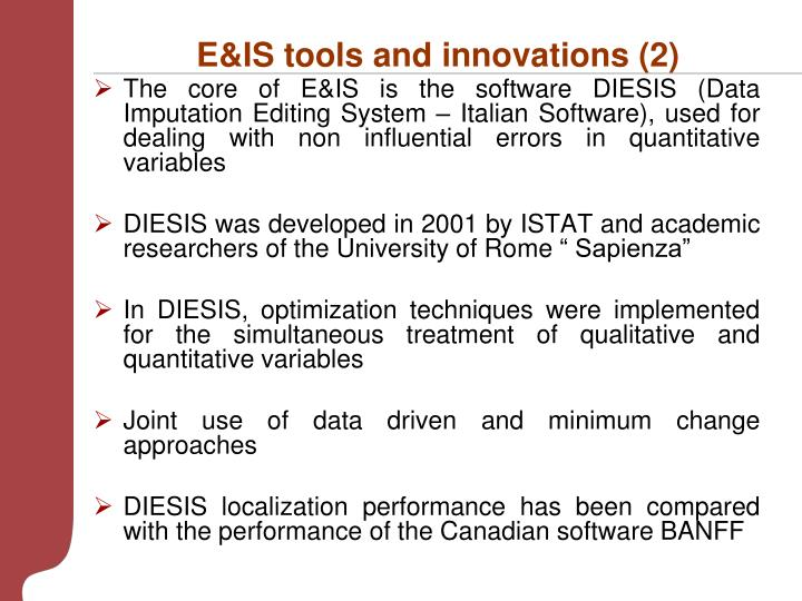 E&IS tools and innovations (2)