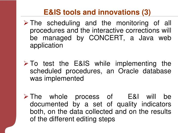 E&IS tools and innovations (3)