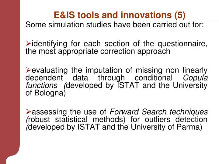 E&IS tools and innovations (5)