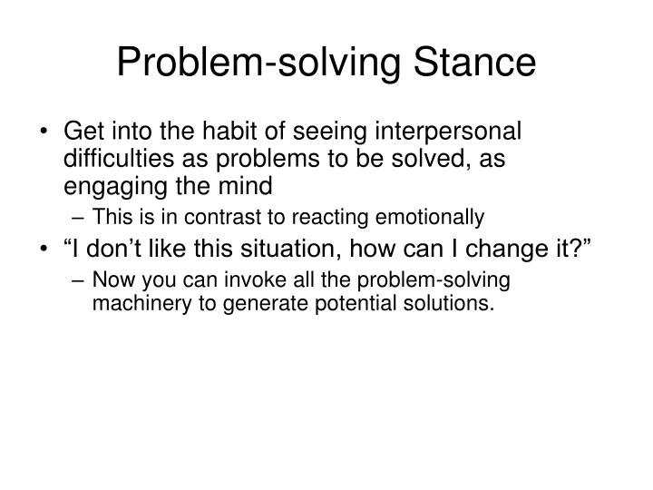 Problem-solving Stance