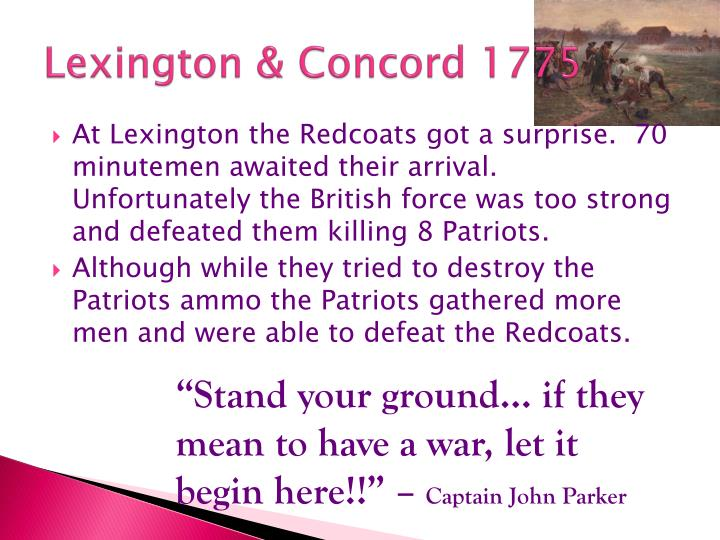 Lexington concord 1775
