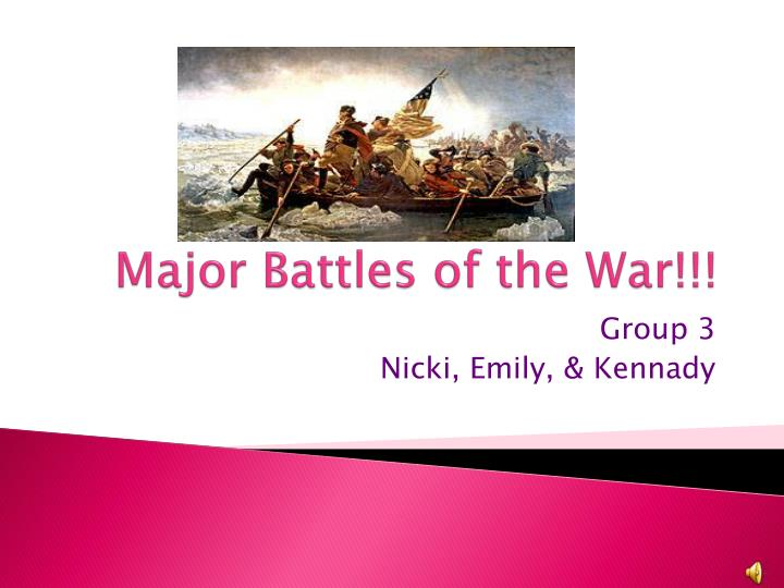Major battles of the war