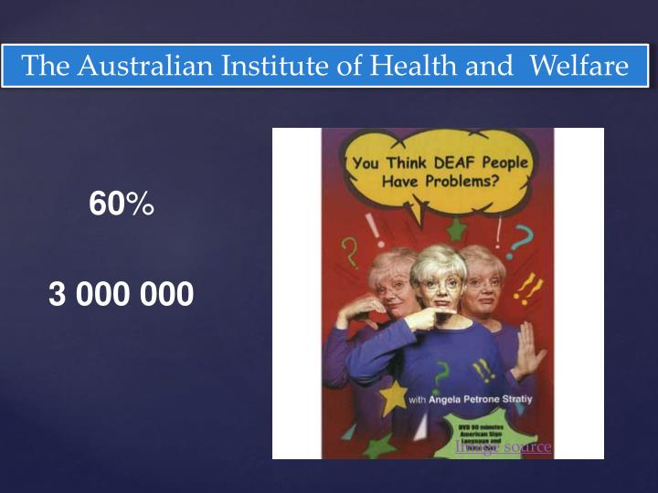 The Australian Institute of Health and  Welfare