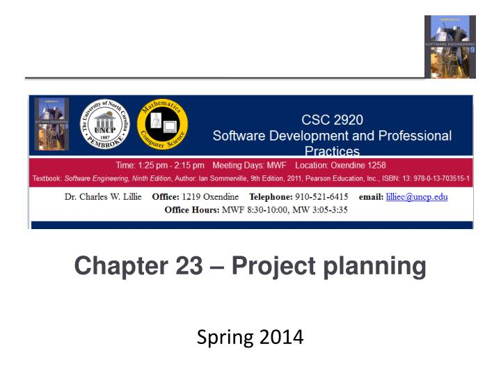 Chapter 23 project planning