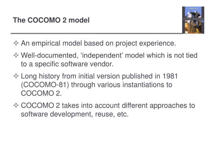 An empirical model based on project experience.