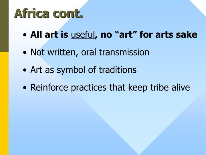 Africa cont.