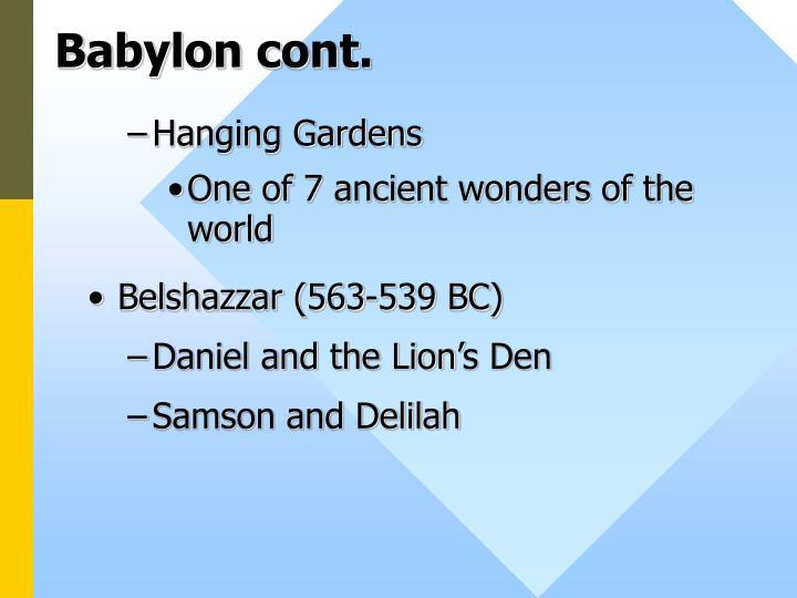 Babylon cont.