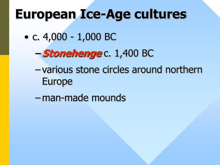 European Ice-Age cultures