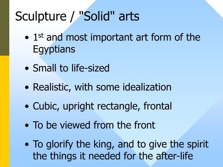 """Sculpture / """"Solid"""" arts"""